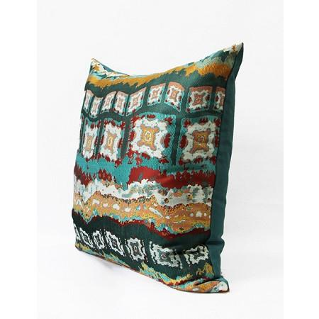 "Green Tribe Pattern Jacquard Pillow 20""X20"" - G Home Collection"