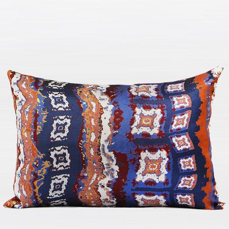 "Tangerine Tribe Pattern Jacquard Pillow 14""X20"" - Gentille Home Collection - 1"
