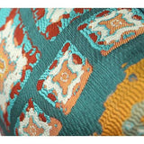 Green Tribe Pattern Jacquard Pillow 14