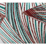 Green Changing Geometric Pattern Tassels Pillow 20