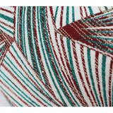 Green Changing Geometric Pattern Tassels Pillow 12