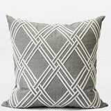 Gray Textured Check Embroidered Pillow 20