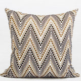 Metallic Big Chevron Embroidered Pillow 20
