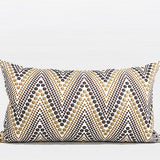 Metallic Big Chevron Embroidered Pillow 12