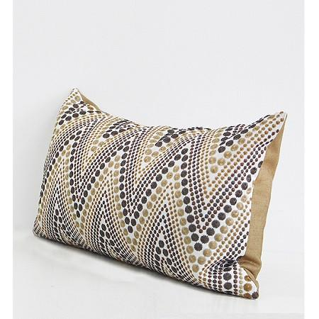 "Metallic Big Chevron Embroidered Pillow 12""X20"""