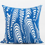 Blue Warp Chevron Embroidered Pillow 20