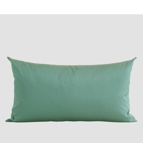 "Green European Classical Pattern Embroidered Pillow 12""X22"" - G Home Collection"