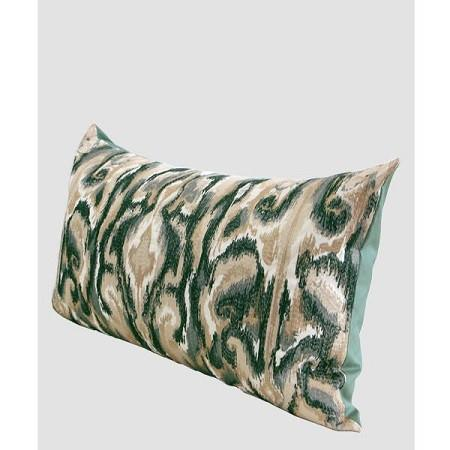 "Green European Classical Pattern Embroidered Pillow 12""X22"""