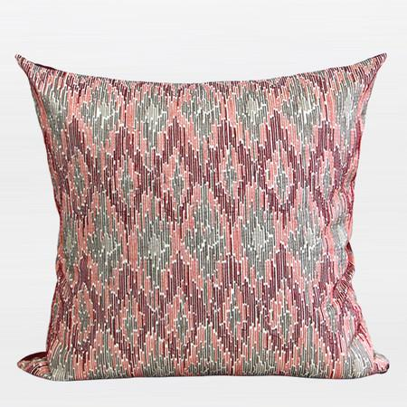 "Red European Classical Pattern Embroidered Pillow 20""X20"" - Gentille Home Collection - 1"