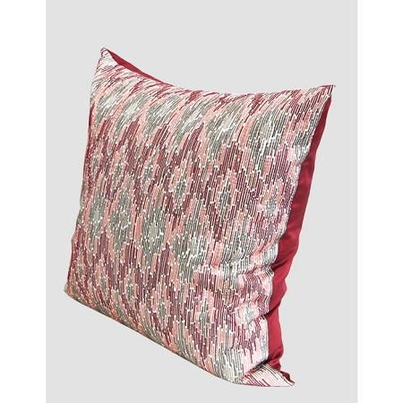 "Red European Classical Pattern Embroidered Pillow 20""X20"""