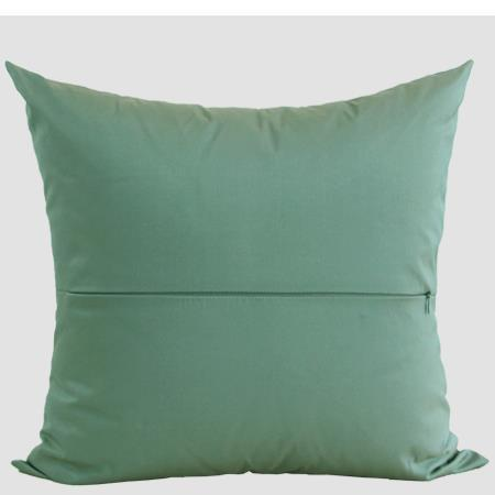 "Green European Classical Pattern Embroidered Pillow 20""X20"" - G Home Collection"