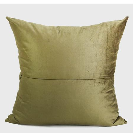 "Wasabi Green Geometry Pattern Embroidered Pillow 20""X20"" - G Home Collection"