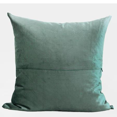 "Lack Blue Geometry Pattern Embroidered Pillow 20""X20"" - G Home Collection"