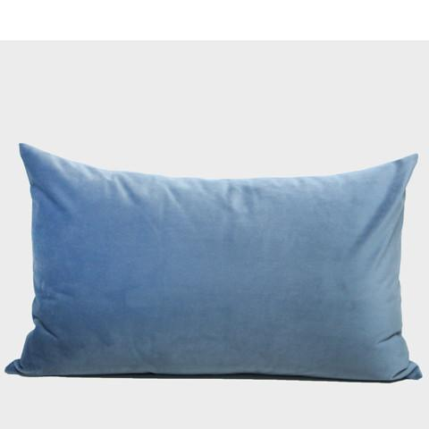 "Sky Blue European Pattern Embroidered Pillow 14""X22"" - G Home Collection"