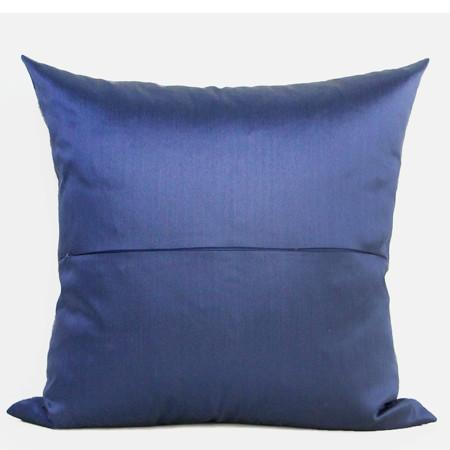 "Blue Classical Geometry Pattern Embroidered Pillow 20""X20"" - G Home Collection"