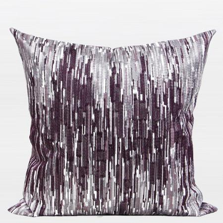 "Purple Nonobjective Embroidered Pillow 20""X20"" - Gentille Home Collection - 1"
