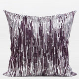 Purple Nonobjective Embroidered Pillow 20