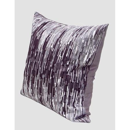 "Purple Nonobjective Embroidered Pillow 20""X20"""