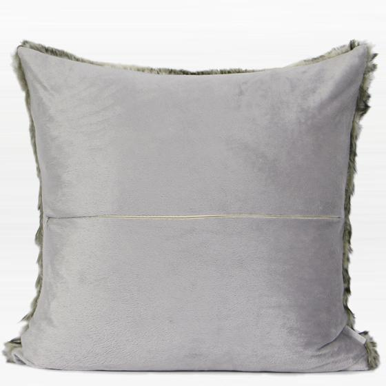 "Gradient Gray Faux Fur Pillow 22""X22"" - G Home Collection"