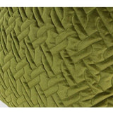 Green Braid Textured Quilting Pillow 24