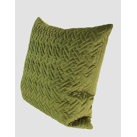 "Green Braid Textured Quilting Pillow 24""X24"""