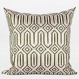 Green Classical Geometry Pattern Embroidered Pillow 20