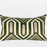 Green Classical Geometry Pattern Embroidered Pillow 12