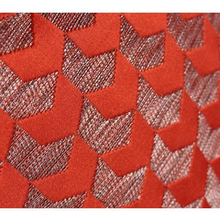 "Tangerine Arrows Pattern Jacquard Pillow 20""X20"" - G Home Collection"