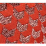 Tangerine Arrows Pattern Jacquard Pillow 20