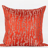 Tangerine Nonobjective Pattern Jacquard Pillow 22