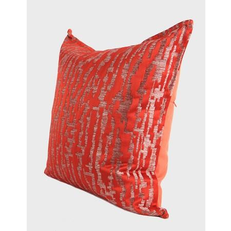 "Tangerine Nonobjective Pattern Jacquard Pillow 22""X22"" - G Home Collection"