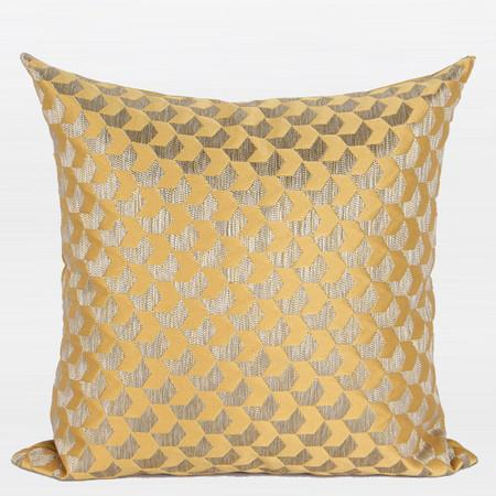 "Yellow Arrows Pattern Jacquard Pillow 20""X20"" - Gentille Home Collection - 1"