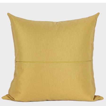 "Yellow Arrows Pattern Jacquard Pillow 20""X20"" - G Home Collection"