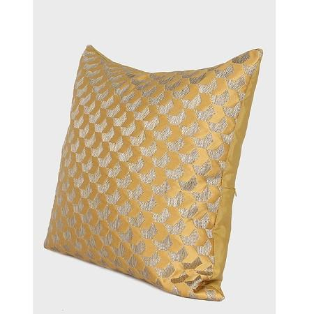 "Yellow Arrows Pattern Jacquard Pillow 20""X20"""