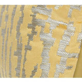 Yellow Nonobjective Pattern Jacquard Pillow 22