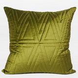 Wasabi Green Triangle Pattern Quilting Pillow 22