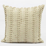 Beige Handmade Textured Pillow 18