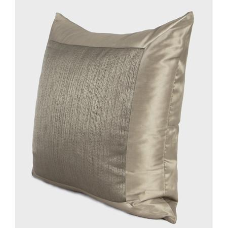 "Gray Gold Frame Splicing Pillow 20""X20"""