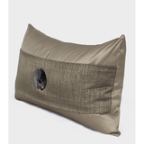 Gray Gold Round Shell Splicing Pillow 12
