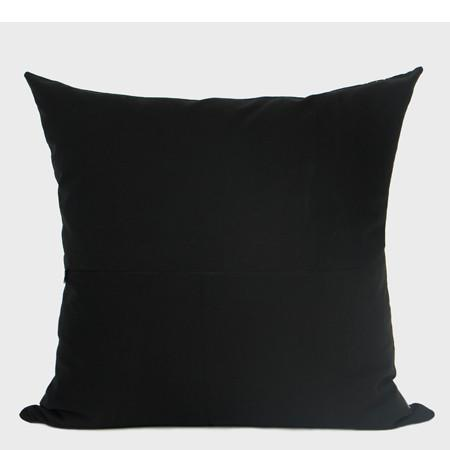 "Black and Gold Geometry Pattern Embroidered Pillow 20""X20"" - G Home Collection"