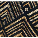 Black and Gold Geometry Pattern Embroidered Pillow 20