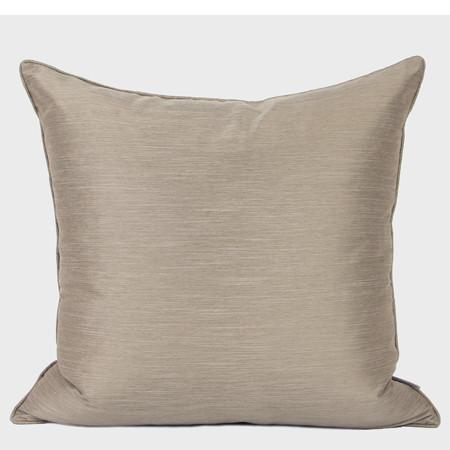 "White And Taupe Two Color Faux Silk Pillow 20""X20"" - G Home Collection"
