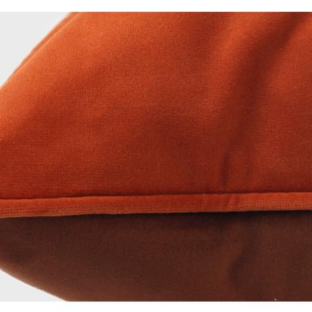 "Orange And Brown Two Color Flannel Fabric Pillow 20""X20"" - G Home Collection"