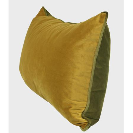 "Wasabi Green And Yellow Two Color Flannel Fabric Pillow 12""X20"" - G Home Collection"