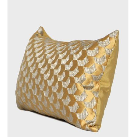 "Yellow Arrows Pattern Jacquard Pillow 12""X20"" - G Home Collection"