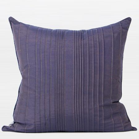 "Purple Striped Textured Pillow 20""X20"" - Gentille Home Collection - 1"