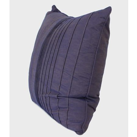 "Purple Striped Textured Pillow 20""X20"""
