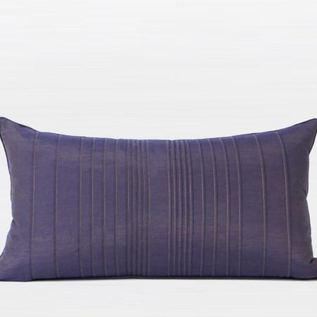 "Purple Striped Textured Pillow 12""X22"" - Gentille Home Collection - 1"