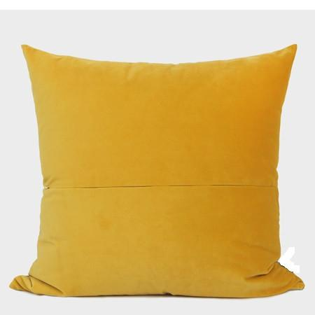 "Yellow Geometry Digital Printing Flannel Pillow 20""X20"" - G Home Collection"