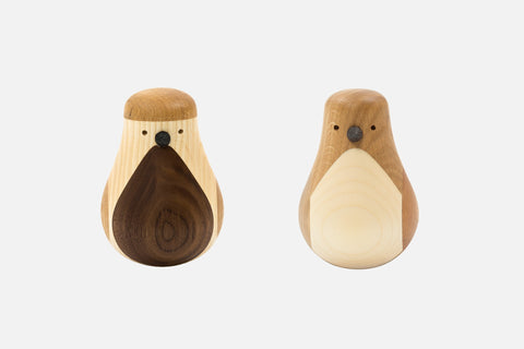 Turned Bird (Set of 2)